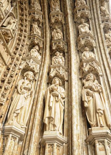 Details of entry of Petit Sablon church