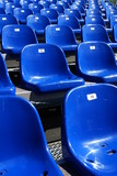 Blue Seats On Stadium