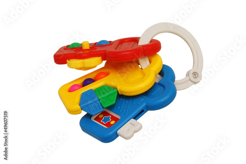 Children's toy rattle with three keys.