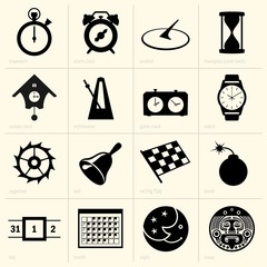 Set of time objects