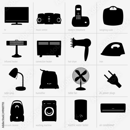 Set of home appliances