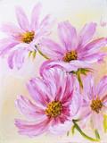 Fototapete Canvas - Farbe - Blume