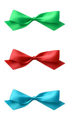 Bright satin bow