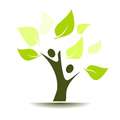 The green tree of life logo