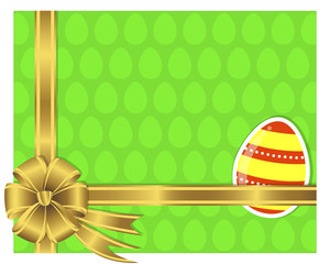 Easter card with a sticker egg.