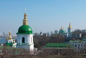 Monastery in Kiev under river Dnieper