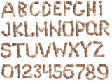 Alphabet of wine corks