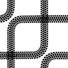Seamless wallpaper tire tracks pattern illustration vector backg
