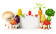a large group of vegetable characters