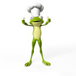 3d rendered funny frog