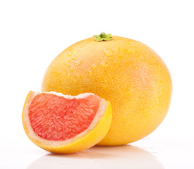 Grapefruit isolated on white background