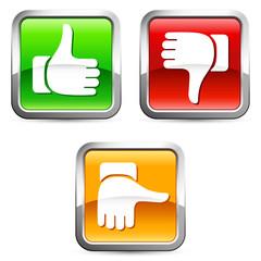 voting buttons - Bewertung, Voting, Qualität