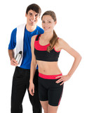 Young couple feeling happy after workout
