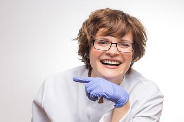 Eine sehr humorvolle Ärztin