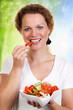 vom salat naschen