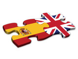 Spanish & UK Flags (Spain English languages translation jigsaw)