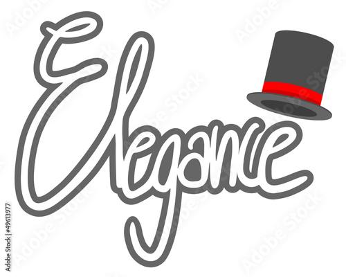 Elegance sticker