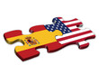 US & Spanish Flags (Spain US English languages translation)