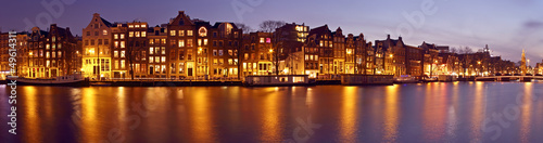 Foto op Aluminium Amsterdam Panorama from Amsterdam with the Munt tower in the Netherlands a
