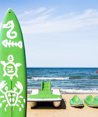 Water Sports Equipment - Rimini Beach, Italy