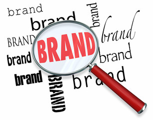 Brand Words Magnifying Glass Loyalty Marketing Word