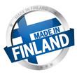 """Button mit Banner """" MADE IN FINLAND """""""