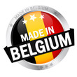 "Button mit Banner "" MADE IN BELGIUM """
