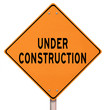 Orange Warning Sign - Under Construction