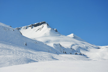 Alpines Skigebiet