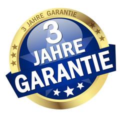"""Button mit Banner """" 3 JAHRE GARANTIE """""""