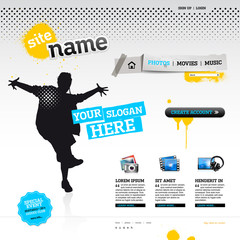 Website template - modern design