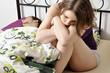 Junge Frau unglücklich