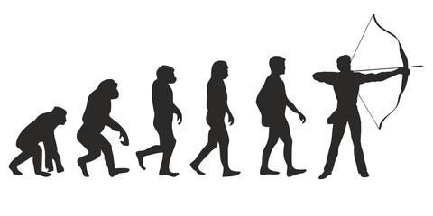 Vom Affen zum Bogenschiesser (Menschen)