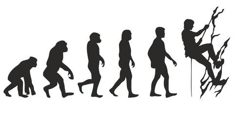 Vom Affen zum Bergsteiger (Menschen)
