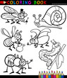 Insects and bugs for Coloring Book