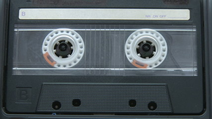 Audio cassette music playing