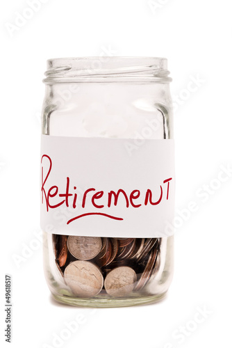 Money In Jar For Retirement XXXL Isolated