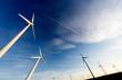 Leinwandbild Motiv parque eolico,desarrollo sostenible.Aerogeneradores