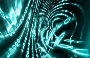 fondo tecnologico abstracto. Codigo binario,concepto de internet