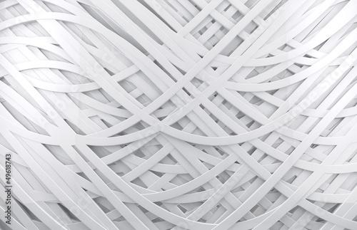 fondo abstracto blanco 3d con lineas - 49618743