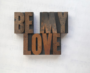 wood type words be my love
