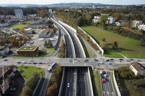 Leinwandbild Motiv Autobahnausfahrt Emmen-Nord