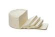 Leinwandbild Motiv Feta cheese from sheep milk