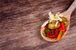 Antipasti auf Holzlöffel - Mittelmeerküche