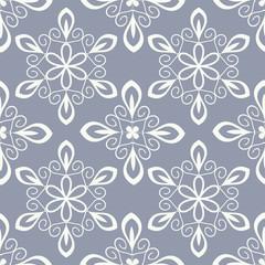 Seamless decorative floral pattern