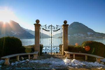 Cancello sul Lago di Lucernia, Svizzera