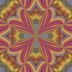 Seamless funky pop art pattern with optic illustion