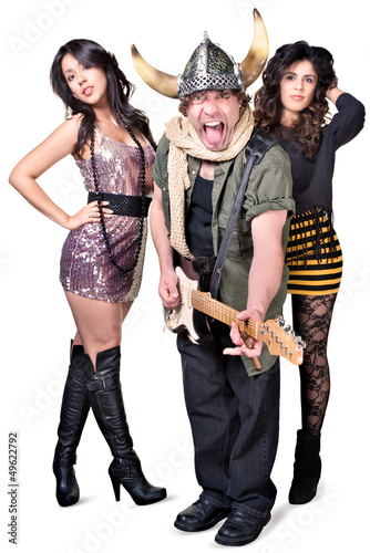 Rock Guitarist with Pretty Women
