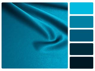 Blue satin colour palette swatch