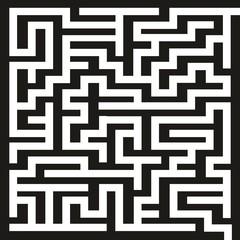 Irrgarten ~ Labyrinth ~ Rätsel ~ Quadrat
